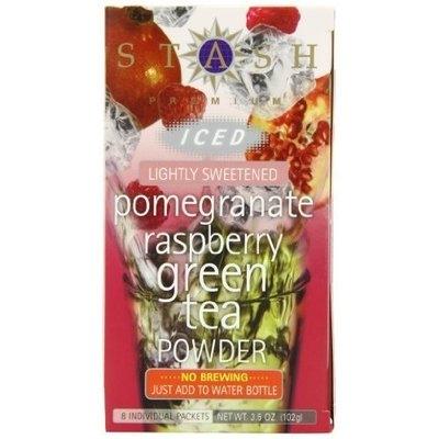 Stash Tea Company Stash Tea Pomegranate Raspberry Green Iced Tea Powder, 8 Count Packets (Pack of 6)