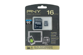 Pny - Elite Performance 16GB Microsdhc Class 10 Memory Card - Black