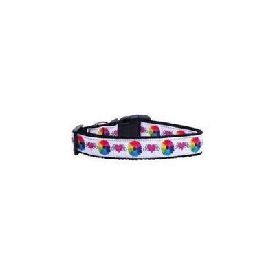 Ahi Technicolor Love Nylon Ribbon Dog Collars Large