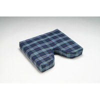 Hermell Products WC4406 Coccyx Cushion Wedge with Plaid Polycotton Zippered Cover