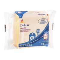 Ahold Deluxe Pasteurized American Cheese Yellow - 24 CT