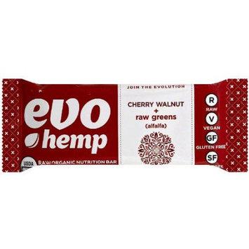 Evo Hemp Cherry Walnut + Raw Greens Raw Organic Nutrition Bar, 1.7 oz, (Pack of 12)
