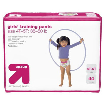 up & up Girls' Training Pants Size 4T-5T 44 ct