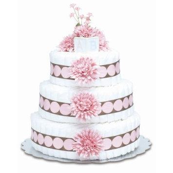 Bloomers Baby Diaper Cake Modern Pink Mums 3-Tier
