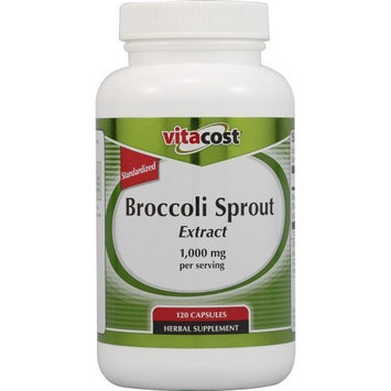 Vitacost Brand Vitacost Broccoli Sprout Extract -- 1,000 mg per serving - 120 Capsules