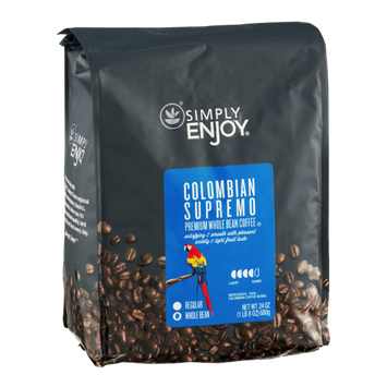 Simply Enjoy Whole Bean Coffee Colombian Supremo