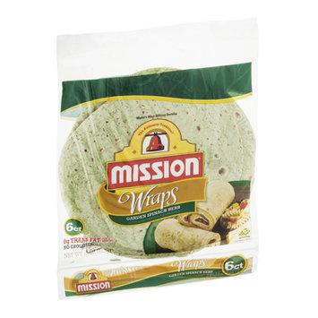 Mission Wraps Garden Spinach Herb - 6 CT