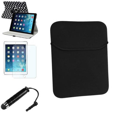 Insten INSTEN Black/White Polka Dot 360 Leather Case Cover+Pen/Pouch For Apple iPad Air 5 5th