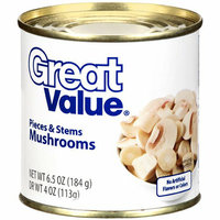Great Value : Pieces & Stems Mushrooms