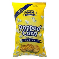 Hain Pure Snax Popped Corn Mini Cakes, Butter, 3-Ounce Bags (Pack of 12)