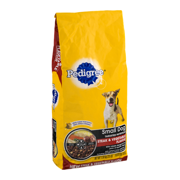 Pedigree Dog Food Small Dog Targeted Nutrition Steak & Vegetable
