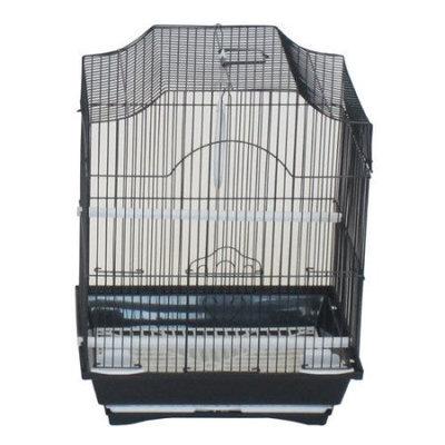 Yml Cornerless Flat Top Bird Cage Color: Black