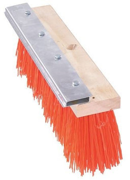 TOUGH GUY 10H920 Push Broom, PP, Hardwood Block,16 In. OAL