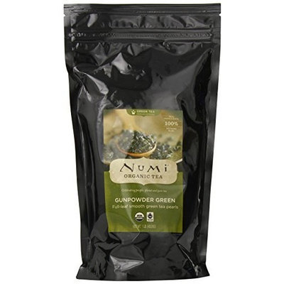 Numi Organic Tea Gunpowder Green - Full Leaf, Loose Leaf, Temple of Heaven Green Tea, 16 Ounce Bag