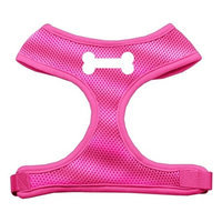 Mirage Pet Products 7004 MDPK Bone Design Soft Mesh Harnesses Pink Medium