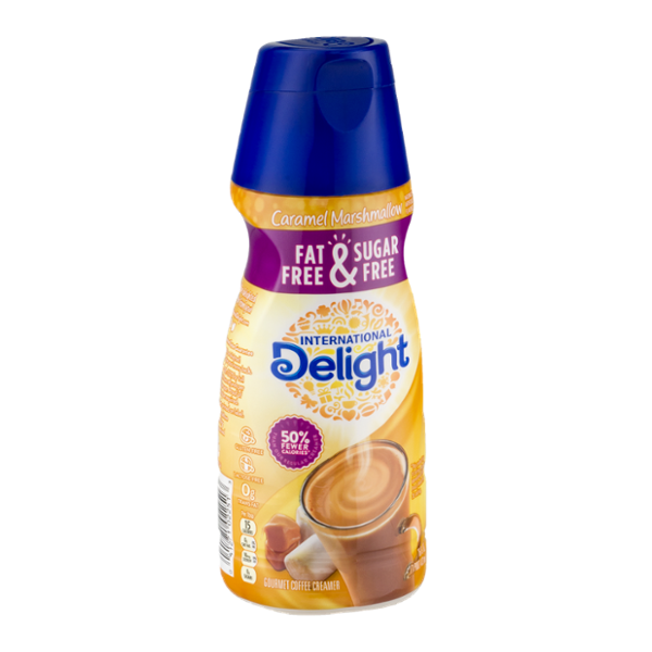 International Delight Gourmet Coffee Creamer Caramel Marshmallow Fat Free & Sugar Free