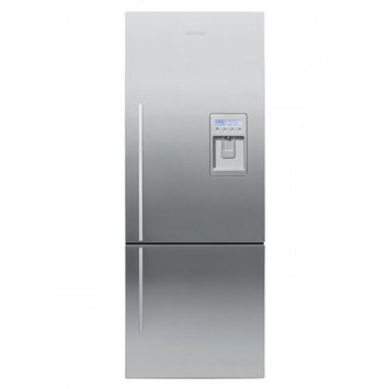 Fisher & Paykel 4 Series 13.5-cu ft Bottom-Freezer Refrigerator with Single Ice Maker (Ezkleen Stainless Steel) RF135BDRUX4
