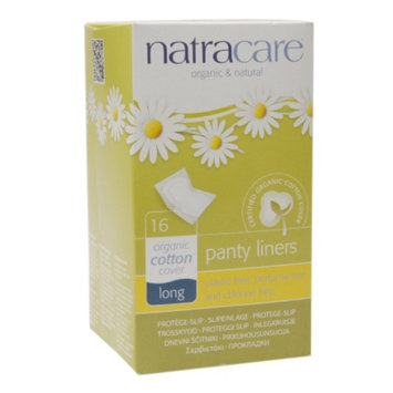 Natracare Natural Panty Liners, Long, 16 ea