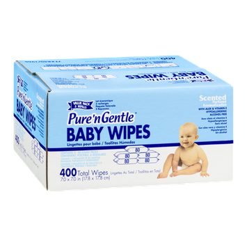 Pure 'n Gentle Baby Wipes Scented - 400 CT