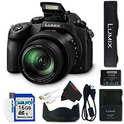 Panasonic Lumix DMC-FZ1000 20.1MP 4K QFHD/HD 16X Digital Camera + 16GB Pixi-Basic Accessory Bundle