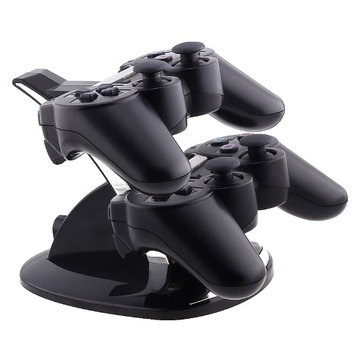 Basacc Black Dual-charging station for Sony PlayStation 3 Controller