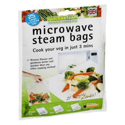 QuickaSteam Microwave Cooking Bags - 25 CT
