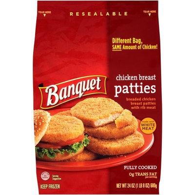 Banquet Chicken Breast Patties, 24 oz