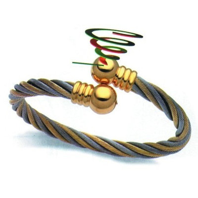 Serenity 2000 Braided 2 Tone Magnetic Bracelet, Small / Medium