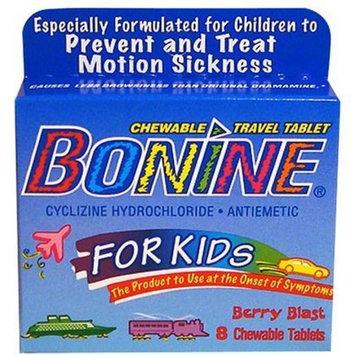 Bonide Bonine for Kids Motion Sickness Tablets, Berry Berry