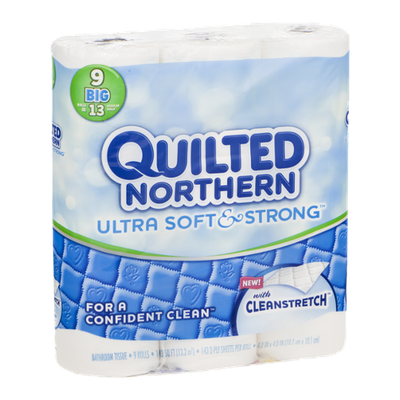 Quilted Northern Bathroom Tissue Ultra Soft & Strong With Cleanstretch