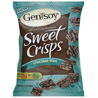 Genisoy Chocolate Mint Crisps, 3.52 oz (Pack of 12)
