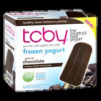 TCBY Low Fat Chocolate Frozen Yogurt Fudge Bars - 6 CT