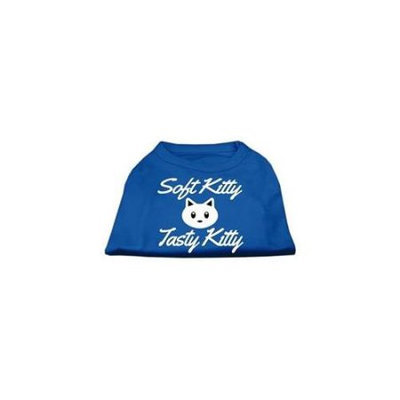 Ahi Softy Kitty Tasty Kitty Screen Print Dog Shirt Blue XL (16)