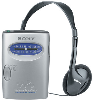 Sony SRF-59SILVER Walkman AM/FM Stereo Radio