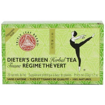 Triple Leaf Brand Dieters' Tea, Green, 20-Count