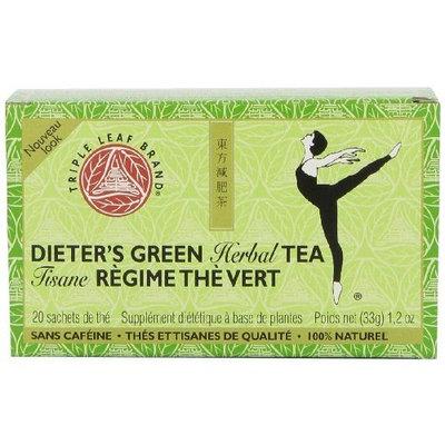Triple Leaf Brand Dieters' Tea, Green, 20-Count