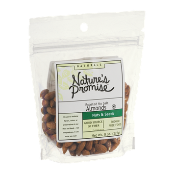 Nature's Promise Naturals Roasted Almonds with No Salt