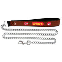 Game Wear Inc NFL Kansas City Chiefs Leather Chain Leash LG