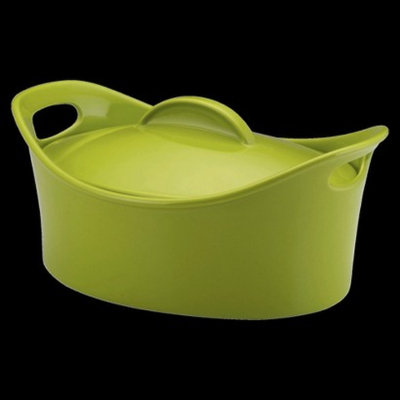 Rachael Ray Casseroval Green Stoneware Covered Oval Casserole Dish 4