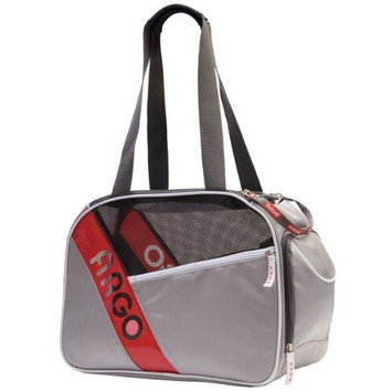 Argo by Teafco City-Pet Airline Approved Pet Carrier, Gray with White Trim, Medium