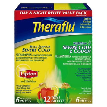 Novartis Consumer Health Theraflu Day and Night Multi-Symptom and Severe Cold & Cough Pain