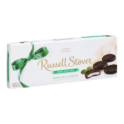 Russell Stover Mint Patties in Fine Dark Chocolate