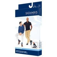 Sigvaris 230 Cotton Series 30-40 mmHg Men's Closed Toe Knee High Sock Size: X-Large Short, Color: Black Mist 14