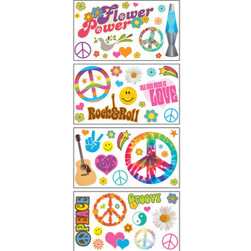 Paper House Productions, Inc Sticky Pix Removable & Repositionable Ultimate Wall Sticker Mini Mural Appliques - Peace