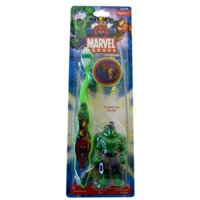 Marvel Heroes Incredible Hulk Travel Toothbrush with Mini Figurine and Cap