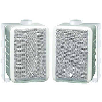 BIC America RTRV44-2W Indoor/Outdoor 3-Way Speakers, White