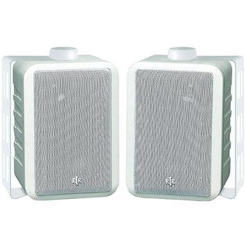 BIC America RTRV44-2W Indoor/Outdoor 3-Way Speakers, White
