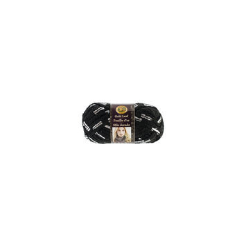 Lion Brand NOTM090537 - Gold Leaf Black/Silver Yarn