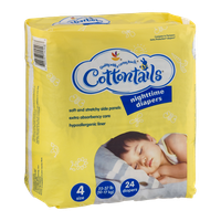 Cottontails Nighttime Diapers Size 4 - 24 CT