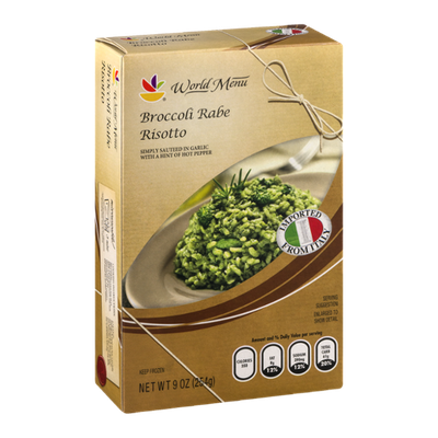 Ahold World Menu Broccoli Rabe Risotto